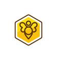 bee element icon design vector image
