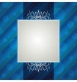 blue striped background with decorative ornaments vector image vector image