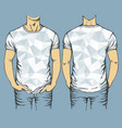 blue t-shirts templates vector image vector image