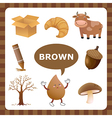 Brown color vector image