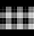 cameron black white tartan plaid pixel seamless vector image vector image