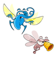 cartoon insects mosquitoes vector image