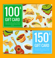 cartoon mexican food discount or gift vector image vector image