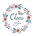 Cheers stylish concept card vector image vector image