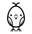 chick icon simple black style vector image