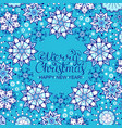christmas card with blue snowflakes vector image vector image