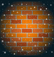 christmas snow and red brick wall vector image vector image