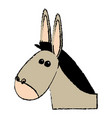 cute mule manger character design vector image vector image