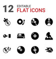 disc icons vector image vector image