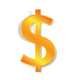 dollar currency sign vector image vector image