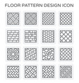 floor pattern icon vector image vector image