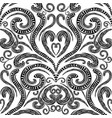 floral greek seamless pattern monochrome vector image