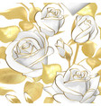 flowers roses on a white background vector image vector image