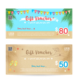 Gift Voucher Summer beach party blue sand vector image vector image