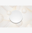 golden curved waves and circles abstract vector image vector image
