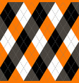 halloween argyle plaid scottish cage background vector image vector image