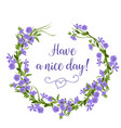 hand drawn flower wreath of periwinkles spring vector image vector image
