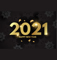 happy new 2021 year elegant design with gold vector image