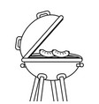 isolated grill design vector image
