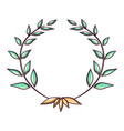 leader wreath icon cartoon style vector image
