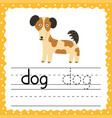 learning to write words flashcard three letters vector image vector image