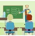Lecturer Making a Presentation Before an Audience vector image vector image