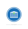 logo on a blue background bank stylish flat vector image vector image