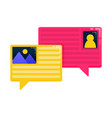 logos for bubble comments and conversations logos vector image vector image