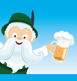 man with beer in his hands vector image