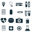 medical signs set vector image vector image