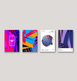 modern cover collection design abstract retro 90s vector image