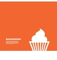 Muffin sign icon Cupcake symbol vector image vector image
