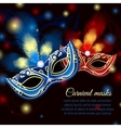 Party mask background vector image vector image