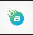 pixel symbol letter b design minimalist vector image vector image