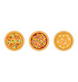 pizza as savory italian dish with round flattened vector image vector image