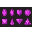 Purple gems set Jewelry crystals collection vector image vector image