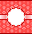 Red frame with snowflakes vector image vector image