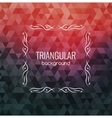 Retro Background Hipster Triangles Bright Colors vector image
