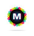 Retro bright colors Logotype Letter M vector image vector image