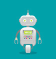 robot customer support service chat bot flat vector image vector image