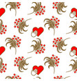 russian folk berry traditional seamless pattern vector image