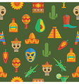 seamless mexican pattern vector image vector image