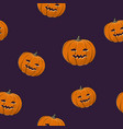 seamless pattern of carved halloween pumpkin vector image vector image