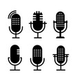 set black and white radio icon studio table vector image vector image