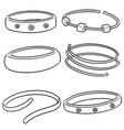 set of bracelet vector image vector image
