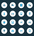 shipment colorful icons set collection of parking vector image vector image