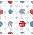 sketch dots seamless pattern vector image vector image