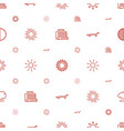sunrise icons pattern seamless white background vector image vector image