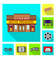 television and filming sign vector image