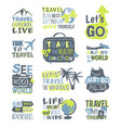 Travel motivation badge logo